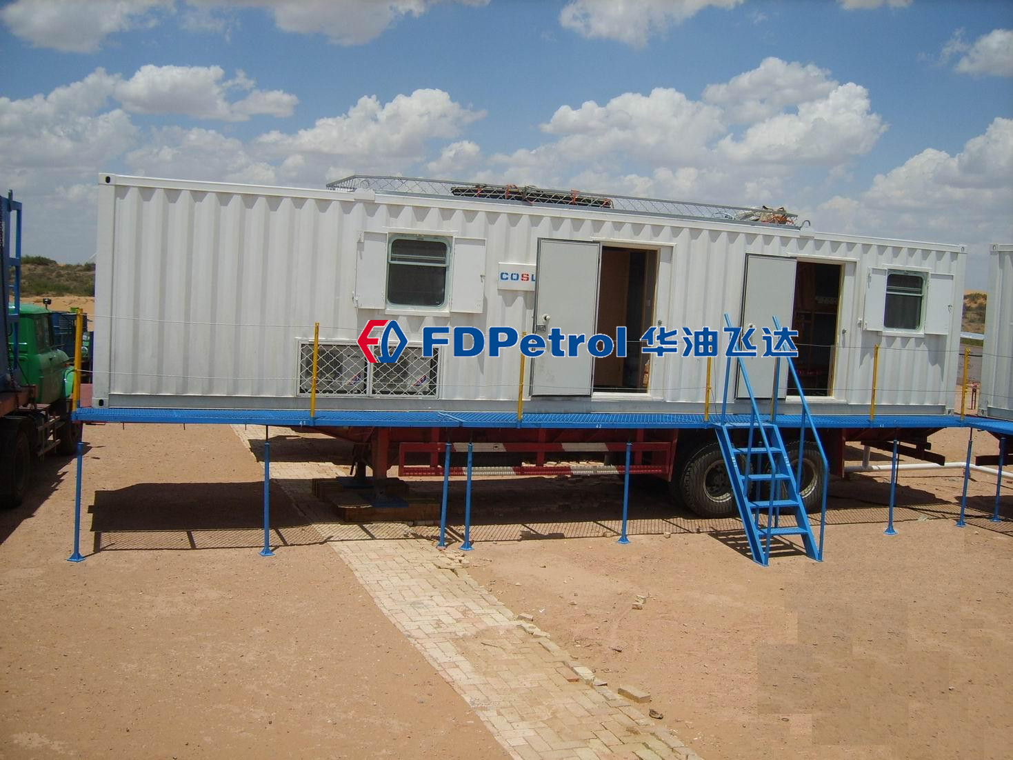 12m trailer mounted camp in Mongolia